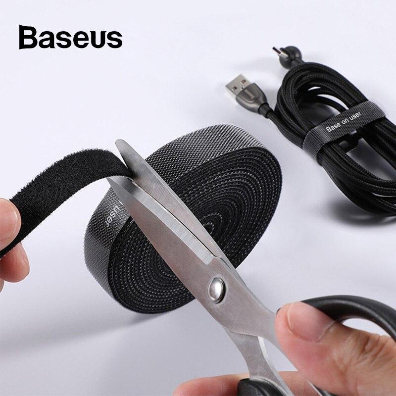 Baseus Cable Organizer Management Magic Paste Data Charging Line Arrangement & Receiving Home Appliance Magic Paste Strip
