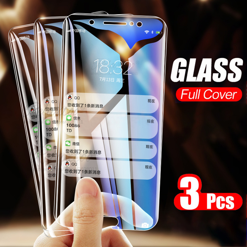 3PCS 9H Tempered Glass For Samsung Galaxy A5 A6 A7 A8 Plus 2018 Screen Protector Protective Glass On Sumsung A 5 6 7 8 Glas Film