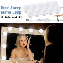Usb ручная развертка косметическое зеркало светильник для нанесения