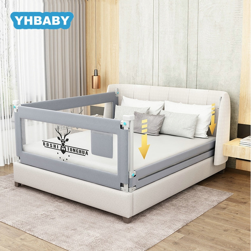 Baby Bed Fence 1.5-2.2m Bed Rail Adjustable Child Care Barrier For Beds Crib Rails Security Fencing Children Guardrail