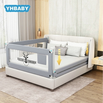 Baby Bed Fence 1.5-2.2m Bed Rail Adjustable Child Care Barrier For Beds Crib Rails Security Fencing Children Guardrail solid wood children beds with guardrail small infant bedside single widening and splicing kids bed