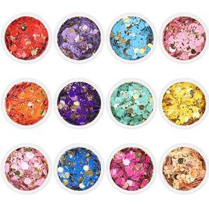 50g/bag 12 Colors Chunky Glitt