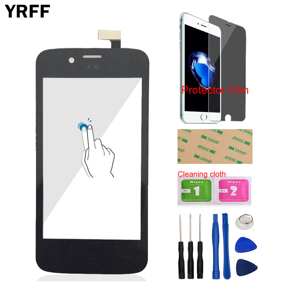 4'' Touch Screen Glass For FLY IQ440 Energie IQ 440 Front Touch Screen Glass Digitizer Panel Sensor Protector Film Adhesive
