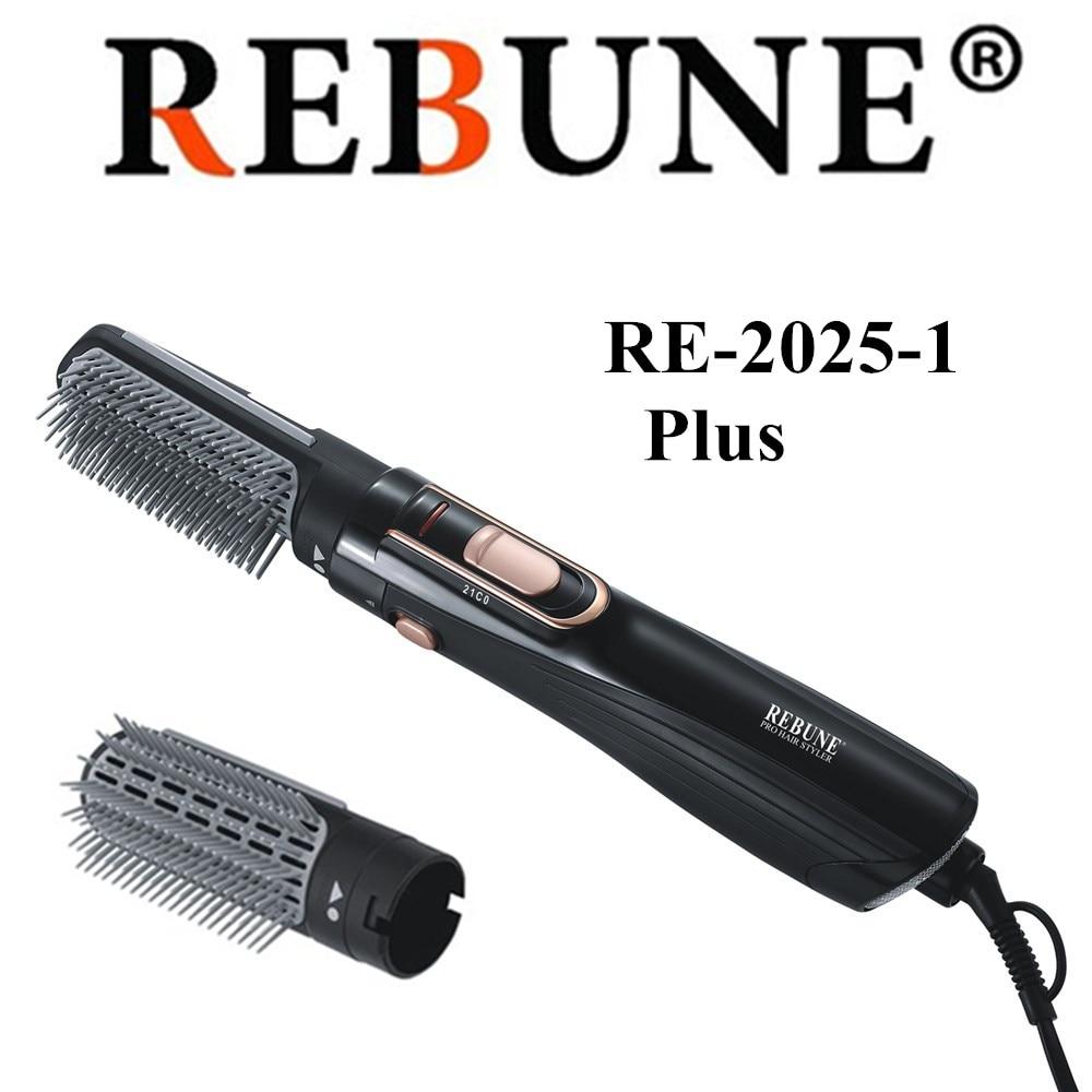 Secador de pelo REBUNE Styler 1200w RE 2025 1 más plancha de pelo y cepillo de Conb rizador-in Rizadores from Electrodomésticos    1