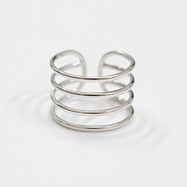 100% Real Pure 925 Sterling Silver Multilayer Rings For Women Finger Ring Beautiful Jewelry Drop Shipping
