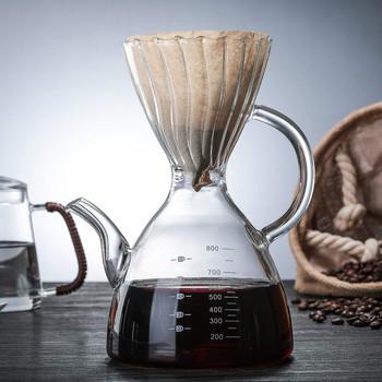 Kroplownik kawowy 800ml V60 żaroodporne żywiczne akcesoria baristy Coffee Brewing filiżanka filtrowa ręcznie myte szkło kroplowe filtr garnek szkło tanie i dobre opinie abay CN (pochodzenie) shop02202090400 First-Class Glass European