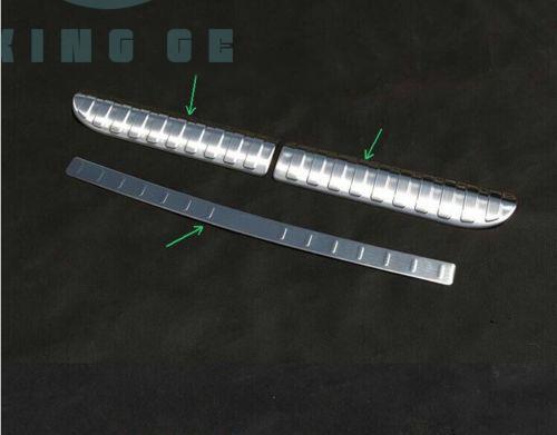 Barre de seuil de couverture de pare-chocs de plaque de porte arrière en acier inoxydable pour Range Rover Sport 14-16 N