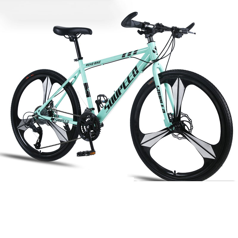 Mountain Bike Bicycle Adult Men And Women Speed Double Disc Brakes Shock Ultra Light Student Off Road Three Knife One Wheel