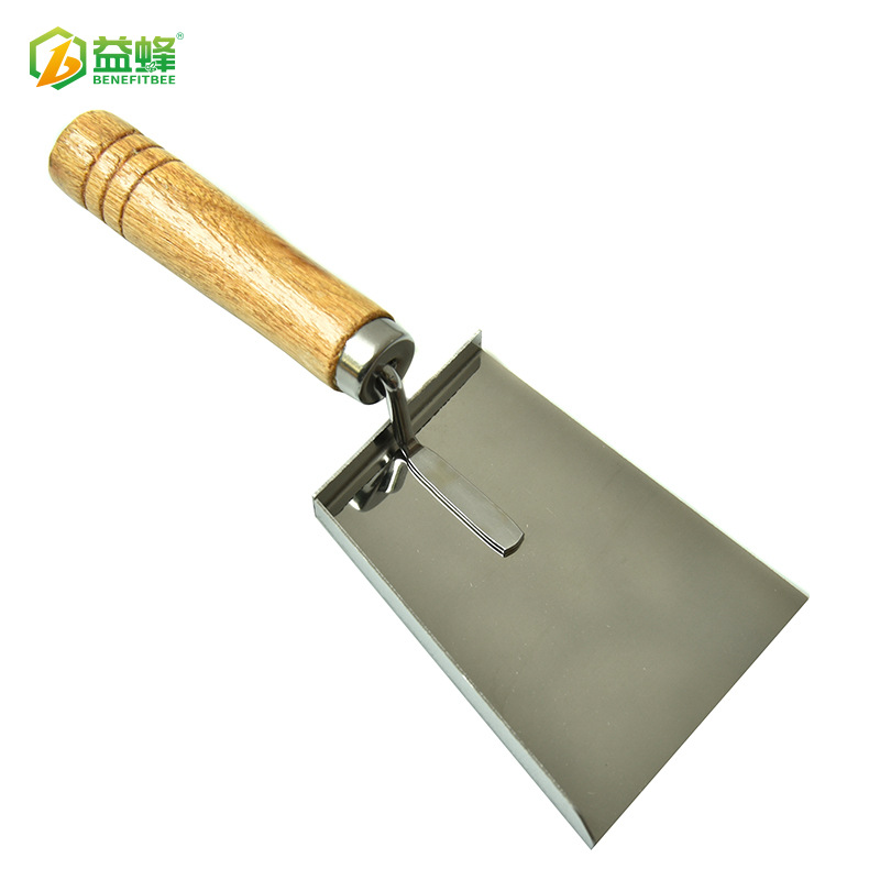 Beekeeping Tools Stainless Steel Wooden Handle Qing Clean Water Chan Hive Internal Cleaning Take Wax Take Pollen Shovel Debris S