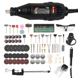 Image 1 - Электрический вращающийся инструмент, инструменты Dremel, гравировальный станок, ручка для Dremel 3000 4000, миниатюрная электрическая дрель, шлифовальная машина, сверлильный станок 146 шт.