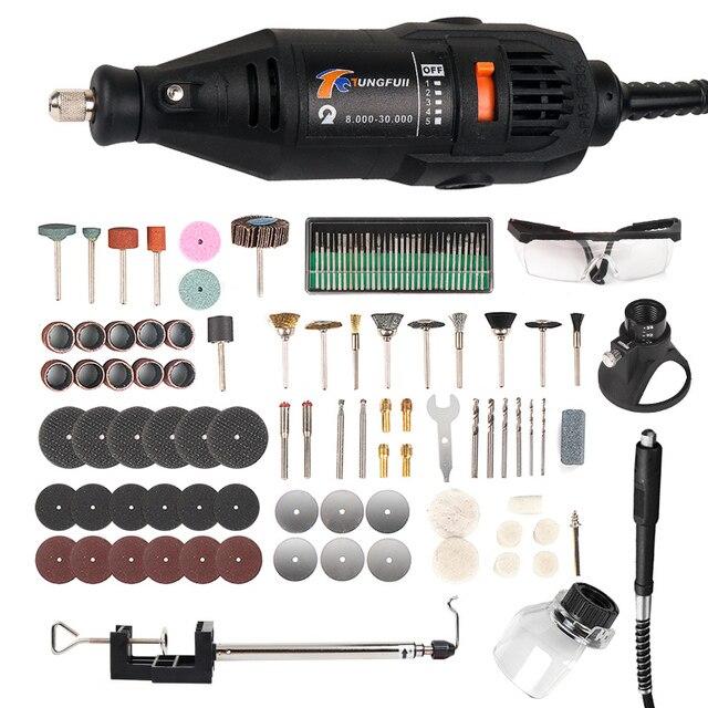 Электрический вращающийся инструмент, инструменты Dremel, гравировальный станок, ручка для Dremel 3000 4000, миниатюрная электрическая дрель, шлифовальная машина, сверлильный станок 146 шт.