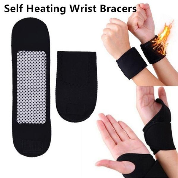 Wrist Brace Support Posture Corrector Belt Strap Bandage Magnetic Self-Heating Tourmaline Belt Posture Correcteur with Hole