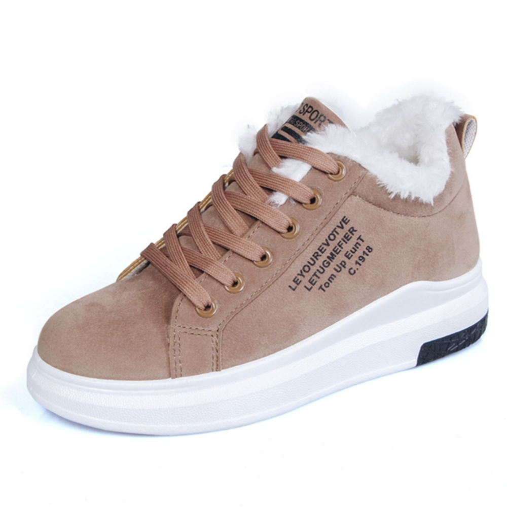 Women's Shoes Winter Women Boots Warm Fur Plush Lady Casual Shoes Lace Up Fashion Sneakers Zapatillas Mujer Platform Snow Boots 1