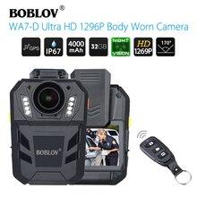 BOBLOV WA7 D Ultra HD 1296P videocamera Mini videocamera Ambarella A7 corpo fotocamera GPS impermeabile indossabile telecamera polizia