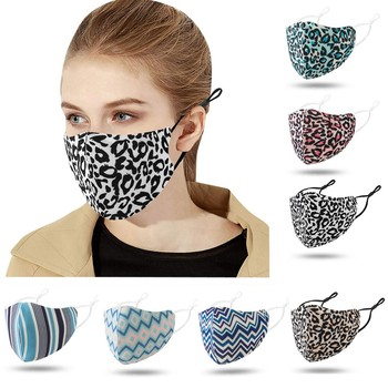 Adult Floral Print Adjustable Safet Protect Washable Cotton Mask Anti Fog Dust Haze Mouth Cover Washable маска для лица Маски