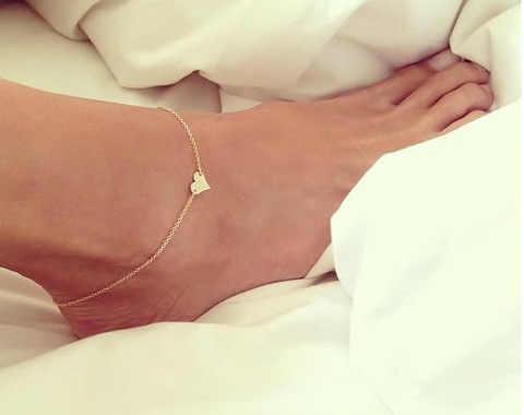 หัวใจหญิงเซ็กซี่ Anklets เท้าเปล่าโครเชต์รองเท้าแตะเท้ารองเท้าแตะขา New Anklets เท้าข้อเท้าสร้อยข้อมือผู้หญิงขา