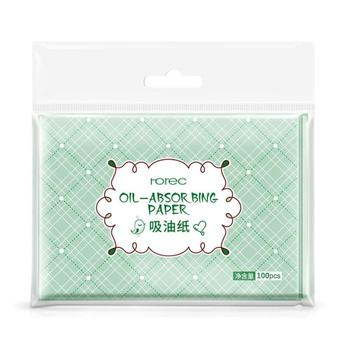 100pcs Face Oil Blotting Paper Green Matting Face Wipes Cleanser Oil Control Shrink Pore Face Cleaning Tool