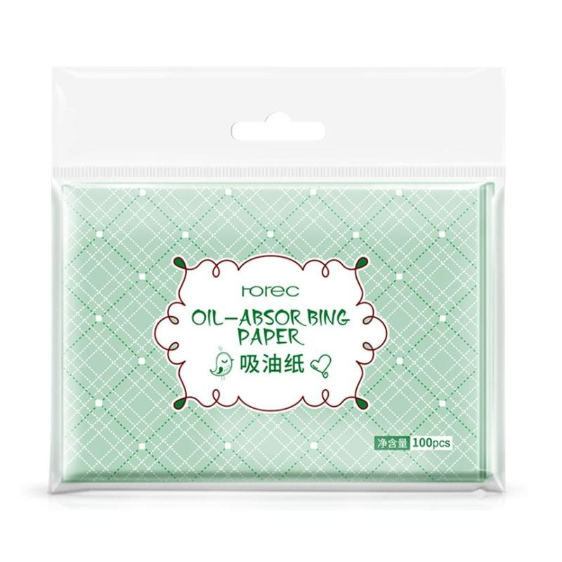 100pcs Face Oil Blotting Paper Green Matting Face Wipes Facial Cleanser Oil Control Shrink Pore Face Cleaning Tool