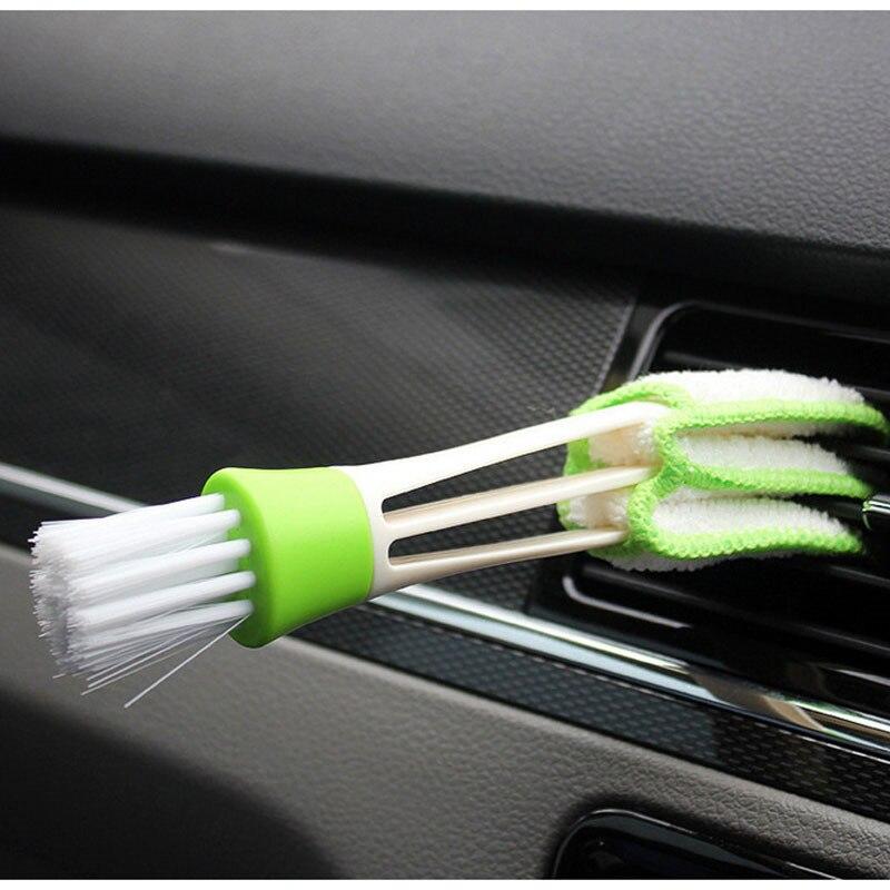 Чистящая Щетка для автомобиля 2 в 1, чистящая щетка для кондиционера на выходе, чистящая щетка для пыли, зазор, канавки, инструмент для чистки, автомобильные аксессуары