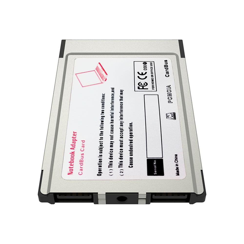 Новый Ноутбук PCMCIA к USB 2,0 CardBus конвертер с 2 портами плата PCI Express Card Adapter