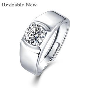 Moissanite Ring For Men Adjust