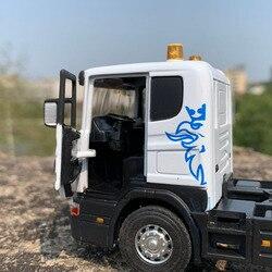 Литье под давлением 1/43 классический американский SCANIA трактор прицеп грузовик контейнерные транспортные средства Модель литья под давлени...