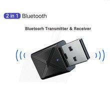 2 в 1 Bluetooth 5,0 аудио приемник передатчик беспроводной адаптер Мини 3,5 мм AUX Стерео Bluetooth передатчик для ТВ ПК автомобиля