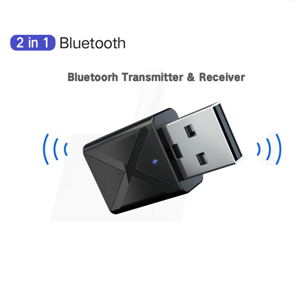 2 In1 Bluetooth 5.0 Audio Receiver Transmitter Wireless Adapter Mini 3.5mm AUX Stereo Bluetooth Transmitter For TV PC Car