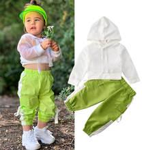 Новинка весны 2020 топ с капюшоном для маленьких девочек рубашка