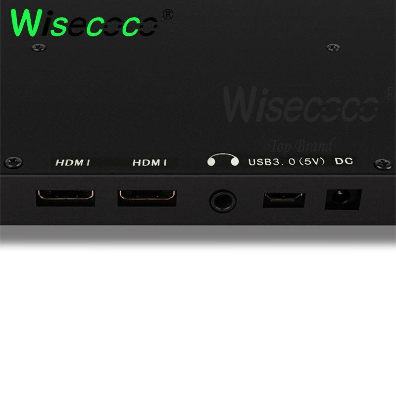 Wisecoco 13.3 polegada ips 2k monitor com embalagem exterior computador display para raspberry pi fone de ouvido dupla interface hdmi - 5