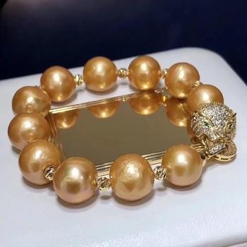 Pearl Bracelets 1030 Fine Jewelry Natural Edison Golden Peals Bracelets 11-12mm for Women Fine Pearls Bracelets фото