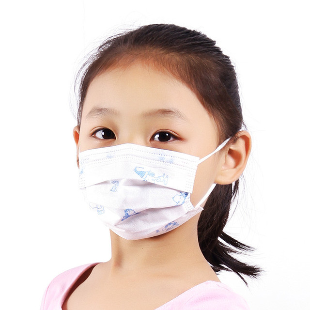 50 Pcs Medical Child Surgical Masks Cute Cartoon Dog Anti-Dust Disposable Mask 3 Ply Earloop Kids Anti-Flu Medical Face Masks 4