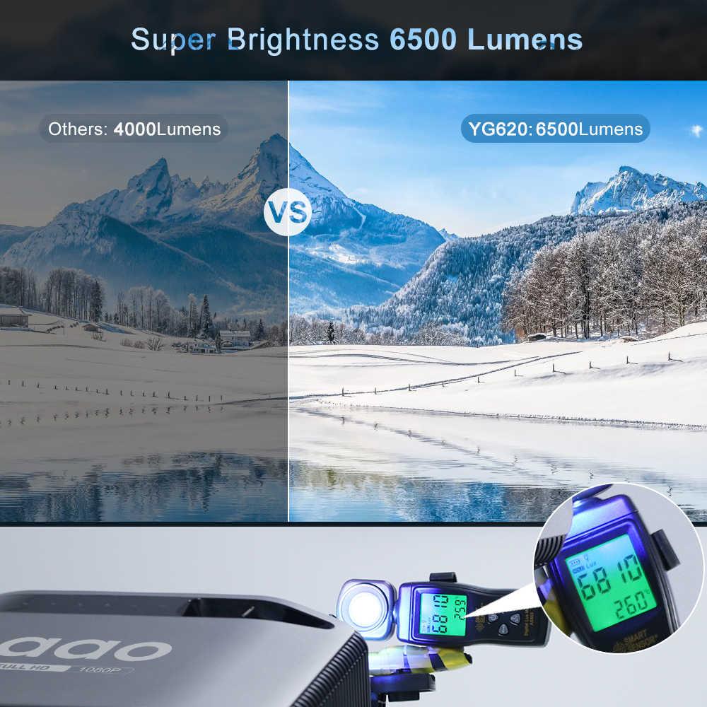AAO Asli 1080P Full HD Proyektor YG620 LED Projector 1920X1080P 3D Video YG621 WiFi Nirkabel Multi layar Proyektor Home Theater