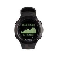 SUNROAD Diving Sports Men Watch Computer Pedometer Safety Depth 100M Waterproof Digital Compass Wristwatch