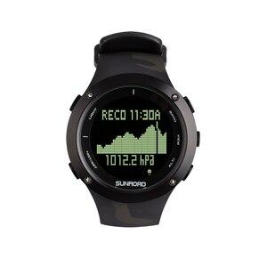 SUNROAD Diving męski zegarek sportowy komputer krokomierz głębokość bezpieczeństwa 100M wodoodporny zegarek cyfrowy kompas