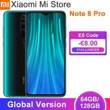 Em estoque versão global xiaomi redmi note 8 pro 64gb/128gb smartphone 64mp câmera 6.53