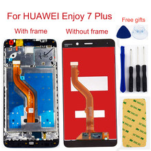For Huawei Y7 Prime 2017 / Huawei Enjoy 7 Plus LCD Touch Screen Digitizer Assembly LCD Display Replacement With frame(China)