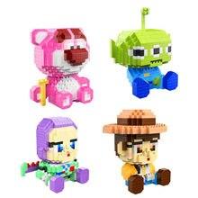 Belle bande dessinée jouets nanobrick histoire Lotso ours alien buzz lightyear woody micro diamant bloc de construction brique jouets éducatifs