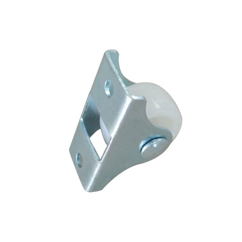 Resistentes fixos em trilho branco, pequeno acessórios de ferragem direcional de plástico para móveis da roda única viagem com 10 peças-2