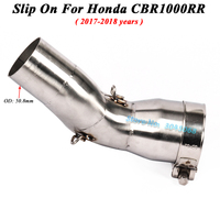 Slip On For Honda CBR1000RR 2017 2018 Motorcycle Exhaust Escape Modifed Middle Tube Contaction Link Pipe Without 51mm Muffler