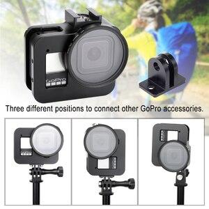 Image 5 - Alüminyum alaşım koruyucu kılıf GoPro Hero 8 siyah Metal kasa çerçeve kafes + UV Lens filtre git Pro 8 kamera aksesuarları