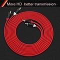 HIFI 2RCA на 2 RCA кабель OFC AV аудио кабель 1 м 2 м 3 м 5 м для ТВ DVD усилитель сабвуфер Саундбар динамик провод