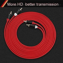 HIFI 2RCA to 2 RCA Cable OFC AV Audio 1m 2m 3m 5m For TV DVD Amplifier Subwoofer Soundbar Speaker Wire