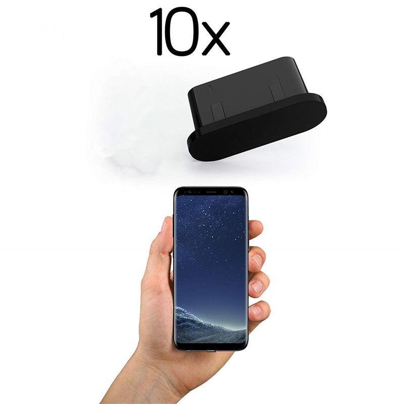 Универсальный 10x пылезащитный заглушка USB C для зарядки отверстия силиконовый Тип C защита от пыли разъем для Samsung S9 S8 Huawei Xiaomi