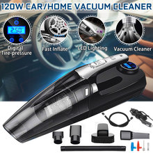 4 in 1 Auto Handheld Staubsauger mit Digital Reifen Inflator Pumpe Manometer LED Licht Staubsauger Für Home auto Auto