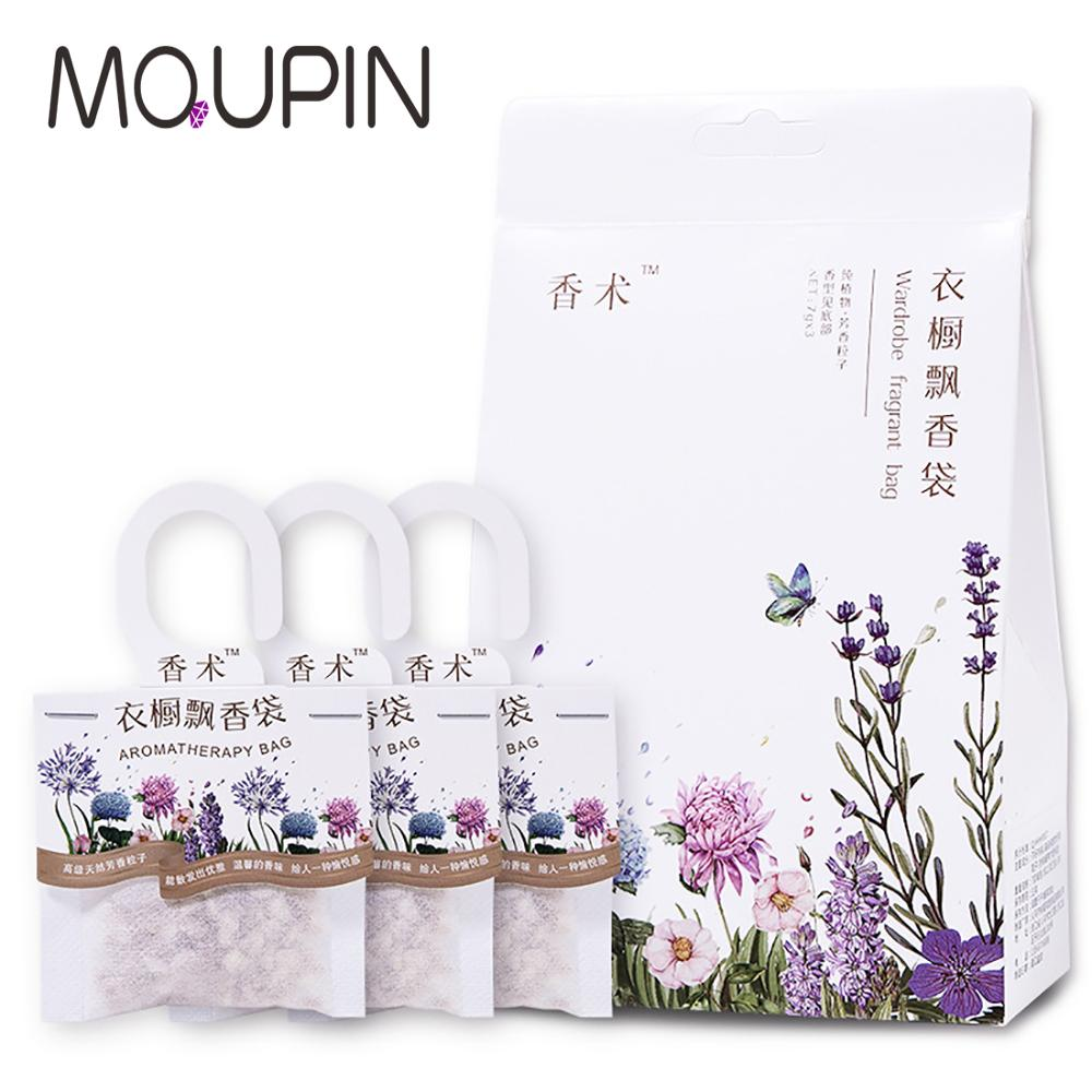 3Pcs Aromatherapy Air Fresh Refreshing Scent Bag Flower Printing 9 Kinds Smell Perfume Natural Smell Incense Wardrobe Sachet