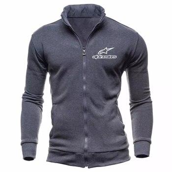 Alpinestars Brand Fashion Mens Jacket Men Solid Color Zipper Slim Sweatshirt Mens Coat Hip Hop Hoodies Sportswear Tracksuit Coat 2020 brand male hip hop long sleeve jordan 23 hooded sweatshirt mens hoodie tracksuit sweat coat casual sportswear hoodies