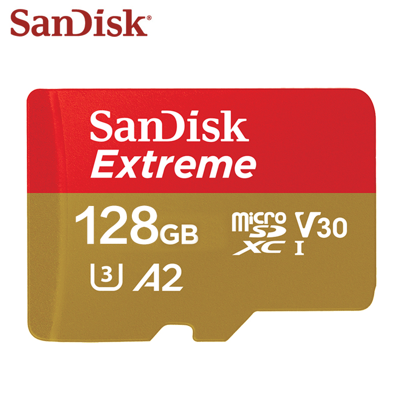 100% Original SanDisk Memory Card Max Read Speed 160M/s 64GB 128GB A2 Class 10 Ultra Micro SD Card 16GB 32GB 98M/s A1 TF Card