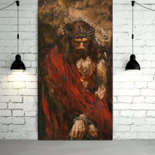 Handamde Jesus Christ Oil Painting on canvas art painting  home decor wall picture for living room