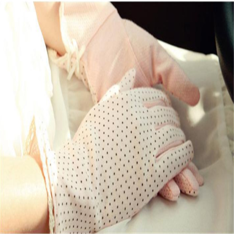 Women Lace Sunscreen Gloves Anti Uv Slip Resistant Driving Glove Breathable Summer Spring Lady Stretch Touch Screen